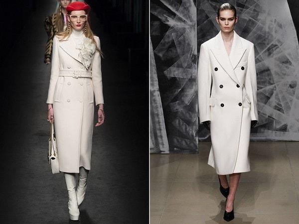 модне пальто білого кольору